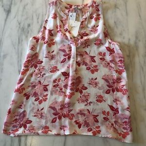 JOIE Silk Sleeveless Floral Top - NWT - XS